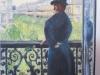 Homme au balcon Boulevard Hausmann Gustave Caillebotte XIXème