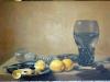 Nature morte aux deux citrons : Pieter Claez - XVIIème