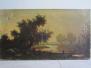 Paysage à l'étang XIXème Vautier/Rousseau
