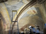 restauration de fresques XIVème : église protégée au titre des Monuments Historiques