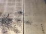 Restauration d'un paravent japonais monochromeXIXème