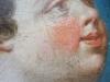 détail visage Enfant Jésus après