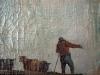Détail : paysan - après restauration