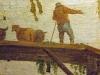 Détail : paysan - avant restauration