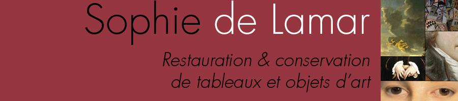 Sophie de Lamar > Restauration et conservation de tableaux et objets d'art