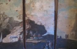 Sophie de Lamar - Restauration et conservation de tableaux > Paravent en l'état avant restauration